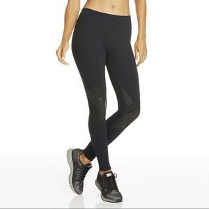 Fabletics Bach Knee Patches Black Legging